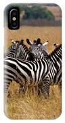 Zebra Protect Each Other IPhone Case