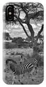 Zebra Running Through Savannah IPhone Case