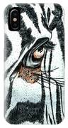 Zebras Eye - Colored Pencil Art  IPhone Case