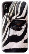 Zebras Eye IPhone Case