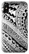 Zen Tangle 1 IPhone Case