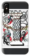 Zentangle Inspired I #1 IPhone Case