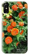 Zesty Zinnias IPhone Case