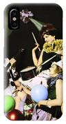 Ziegfeld Model  By Alfred Cheney Johnston  Pierrot Serenading Three Beautiful Sexy Women IPhone Case