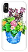 Zinnia Container Garden IPhone Case