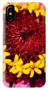 Zinnia Macro IPhone Case