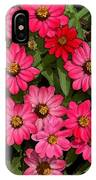 Zinnia Riot Watercolor IPhone Case