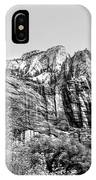Zion National Park Utah Black White  IPhone Case