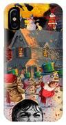 Zombie Snowmen Christmas IPhone Case