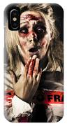 Zombie Woman Expressing Fear And Shock When Waking IPhone Case