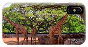 Zoo Giraffes And Zebras IPhone Case