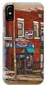 Zytynsky's Deli Rosemont Montreal IPhone Case