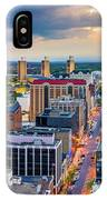 Aerial Panorama Of Albany, New York IPhone Case by Mihai Andritoiu