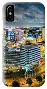 Aerial Panorama Of Norfolk, Virginia By Night IPhone Case by Mihai Andritoiu