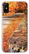 Autumn Avenue IPhone Case