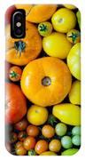 Fresh Heirloom Tomatoes Background IPhone Case
