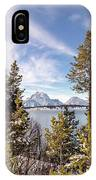 Jackson Lake Overlook IPhone Case by Michael Chatt