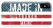 Made In Lebanon, Maine IPhone Case