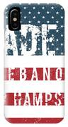 Made In Lebanon, New Hampshire IPhone Case