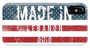 Made In Lebanon, Ohio IPhone Case