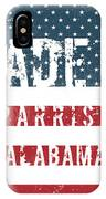 Made In Parrish, Alabama IPhone Case