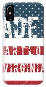 Made In Partlow, Virginia IPhone Case
