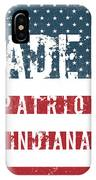 Made In Patriot, Indiana IPhone Case