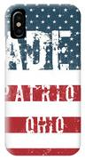 Made In Patriot, Ohio IPhone Case