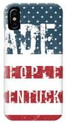 Made In Peoples, Kentucky IPhone Case