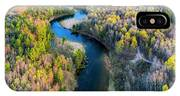 Manistee River From Above In Spring IPhone X Case