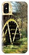old mill wheel and stream at Preston Mill, East Linton IPhone Case
