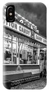 On The Midway - Temptations Of The Night 4 Bw IPhone Case