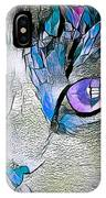 Purple Stained Glass Kitty IPhone Case by Don Northup