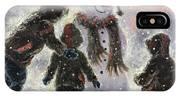 Snowman And Three Boys IPhone X Case