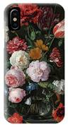 Still Life With Flowers In A Glass Vase, 1683 IPhone Case