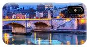 Vatican Dome And Tiber River, Ponte IPhone X Case