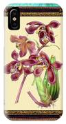 Vintage Orchid Antique Design Marble Caribbean-blue IPhone Case