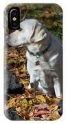 Yellow Labrador Retriever IPhone Case