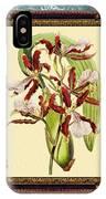 Vintage Orchid Antique Design Marble Blue-green  IPhone Case