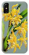 Orchid Vintage Print On Tinted Paperboard IPhone Case