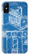 1899 Photographic Camera Patent Print Blueprint IPhone Case