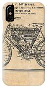 1901 Stratton Motorcycle Antique Paper Patent Print IPhone Case
