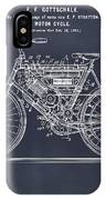 1901 Stratton Motorcycle Blackboard Patent Print IPhone Case