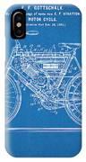 1901 Stratton Motorcycle Blueprint Patent Print IPhone Case