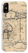 1919 Anesthetic Machine Antique Paper Patent Print IPhone Case