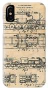 1925 Turbine Driven Locomotive Antique Paper Patent Print  IPhone Case