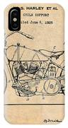 1928 Harley Davidson Motorcycle Antique Paper Patent Print IPhone Case