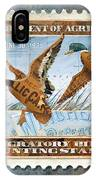 1934 Hunting Stamp Collage IPhone Case by Clint Hansen