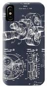 1938 Bell And Howell Movie Camera Patent Print Blackboard IPhone Case