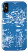 1938 Bell And Howell Movie Camera Patent Print Blueprint IPhone Case